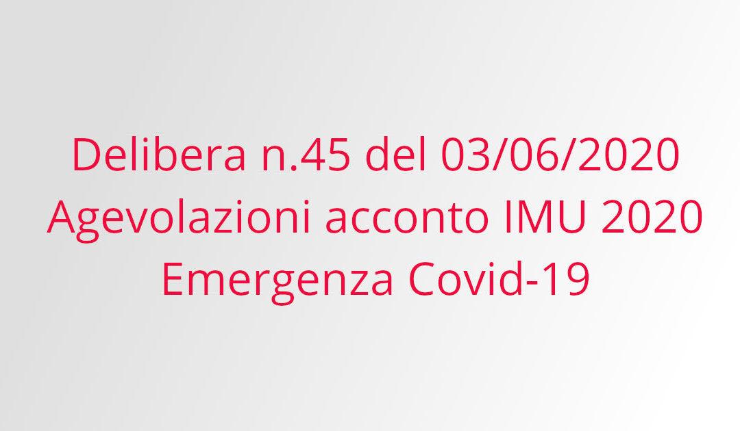 Agevolazioni Acconto IMU 2020 – Emergenza Covid-19