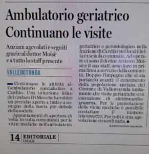 articolo giornale ambulatorio